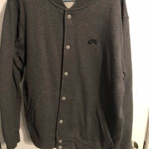 Nike SB Snap Button Cotton Varsity Jacket Men's